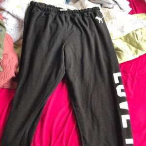 Pink sweat pants!